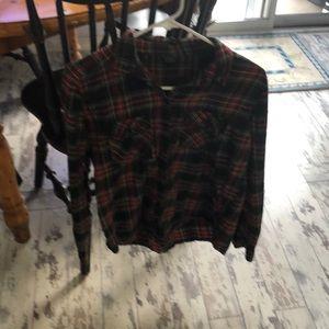 Top shop flannel top